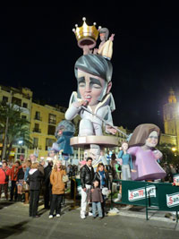 Valencia Fallas 2012 Effigy of Elvis Presley